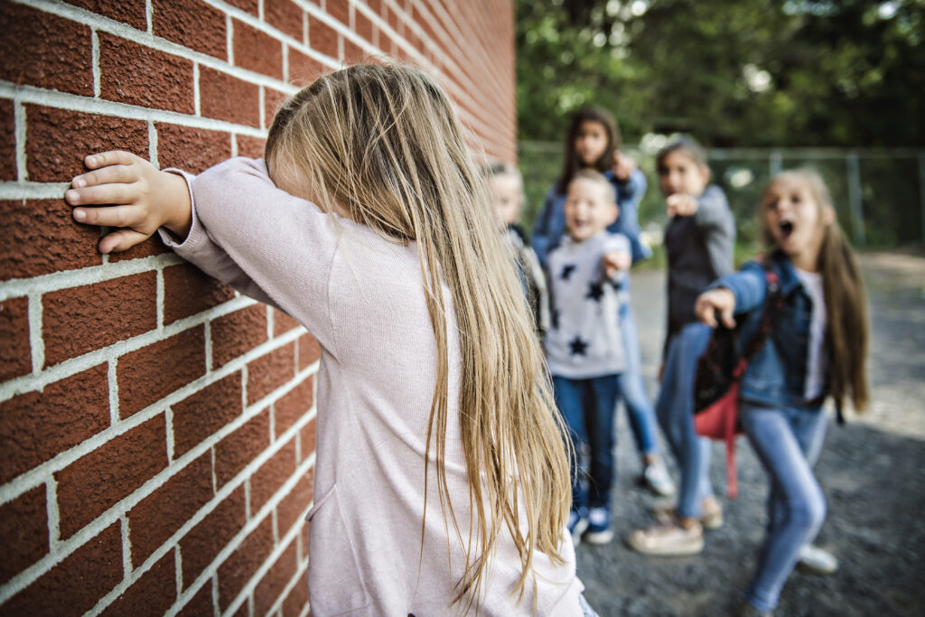 A sad intimidation moment Elementary Age Bullying in Schoolyard